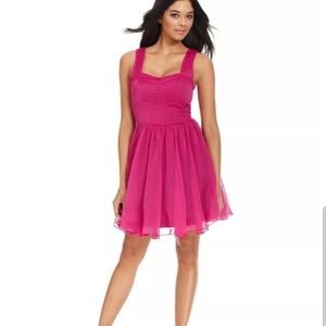 Nwt - Guess Georgette pink A line dress Size 10
